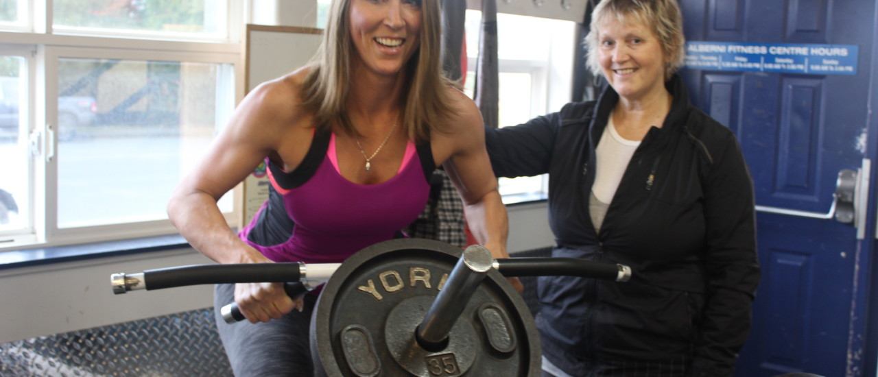 Lisa is Training for May  with  Trainer  Tricia